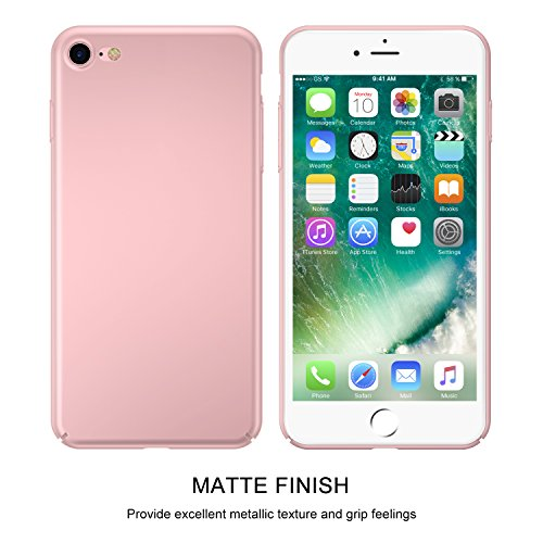 iPhone 7Coque, Casekoo Ultra fin à coque Finition mate Coque rigide de protection intégrale anti-rayures léger Coque pour iPhone 7 iPhone 7 WatermelonRed rose gold
