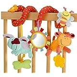 StillCool - Alta Calidad Juguetes Colgantes Espiral de Animales para Cuna Cochecito Carrito bebés niños niñas Arrastrar-Colorido