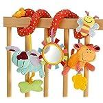 StillCool Alta Calidad Juguetes Colgantes Espiral de Animales para Cuna Cochecito Carrito bebés niños niñas arrastrar-colorido