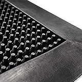 Gummifußmatte mit Noppen | robuste und wetterfeste Gummimatte für außen und innen | als Anti-Ermüdungsmatte nutzbar | viele Größen (46 x 70 cm)