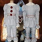 YXRL Halloween-Kostüm-Erwachsener Clown Pennywise Cosplay Volle Satz-Ausstattungs-Stage Performance Kostüm MS Grey B-S