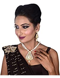 New Collection Party Wear Stylish Pearl Necklace Set / Jewellery Set With Earrings For Women / Girls / Karva Chauth...