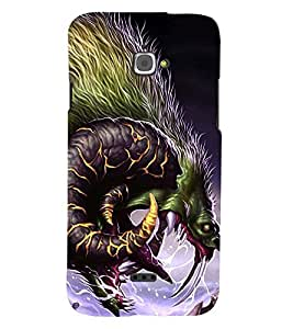 Fuson Premium Dragon Printed Hard Plastic Back Case Cover for INFOCUS M350