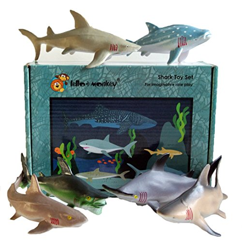 Lello and Monkey The Creature of the Sea of Sharks Toy Animals Game Figures of 6