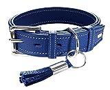 Hunter Hunde Leder Halsband Cannes blau Gr. 60