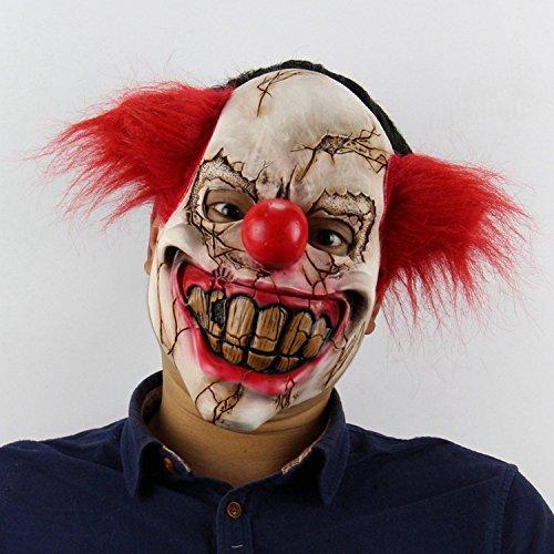 Nrpfell Horror Geist faulen Clown Halloween Weihnachten Bar Tanz Requisiten seltsame Latex gruselige Maske A
