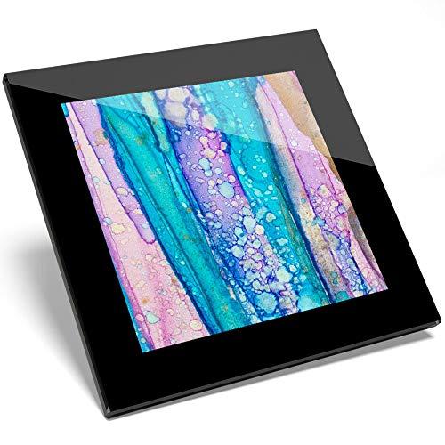 Destination 16013 Untersetzer aus Vinyl, mit Glasmalerei, modernes Design, Geschenkidee für Küche, Student - Moderne Glasmalerei