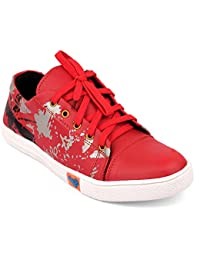 CF_Better Deals | Synthetic| White-Red Color| Casual Shoes| Sneakers| Canvas Shoes| Leather Shoes| Office Shoes... - B0765WD3YX