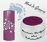 online-hut 5 ml UV Exclusiv Farbgel ohne Schwitzschicht Purple
