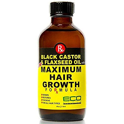 Schwarz Castor und Leinsamen Öl Maximale Haar Wachstum Formel (Black Hair Growth)