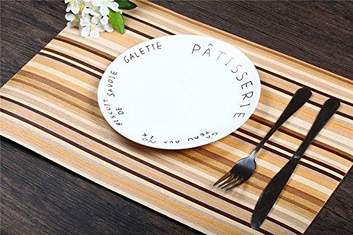 Neue Ankunft handgemachte Natur Furnier Tisch Deco Platzdeckchen, Tischsets In 4 Stück, Rechteck Größe 450 * 305MM
