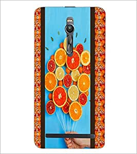 PrintDhaba Leamons D-3758 Back Case Cover for ASUS ZENFONE 2 (Multi-Coloured)