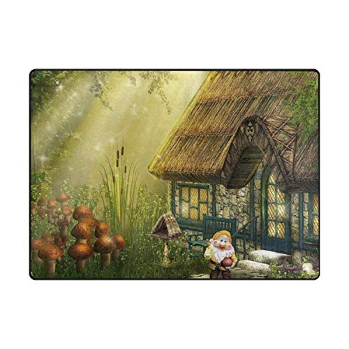 LINGVYTE Secret House in Woods Forest Printing Doormat Indoor Door Mats Rugs Non Slip Carpets for Bedroom Kids Playing Room Living Room Kitchen Rugs 23.6x15.7 inch (Service Forest Hose)