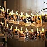 fee-lice LED Foto Clip Lichterkette–Batteriebetrieben LED-Bilderleuchte für die Dekoration zum Aufhängen Foto, Notizen, Kunstwerk, Karten, Malerei (20LED)
