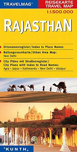 Cartes de voyage Inde, Rajasthan 1 : 1,5 Mio