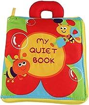 كتاب تعليمي للأطفال الصغار من قماش ناعم يصدر صوت خشخشة مكون من 12 صفحة قماشية