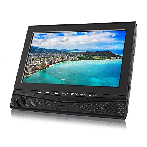 DVD Player Auto portable Monitor 10,1 Zoll tragbarer Fernseher für Mama Kinder hinter Kopfstützen Spieler mit TFT Display LCD Bildschirm Halterung unterstützt SD USB für Urlaub Reise Zuhause Unterwegs