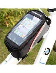HooToo®ROSWHEEL Bolsa Frontal Bicicleta Con PVC Funda Protectora Transparente Hasta 4,8 Pulgadas Para Iphone HTC Samsung Nokia Xiaomi Y Teléfono Móvil Smartphone