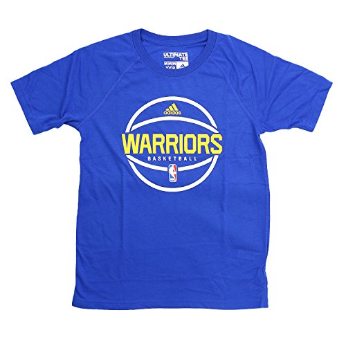 adidas Golden State Warriors Ultimate S/S NBA Fan Basketball Tee - Youth Kinder, blau -