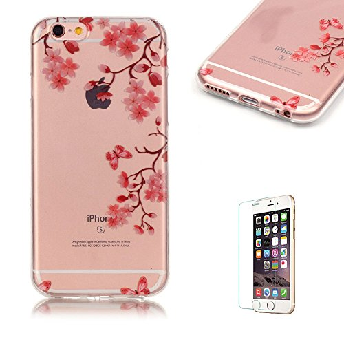 iphone-6-6s-47-case-cover-with-free-screen-protector-funyye-see-through-transparent-soft-rubber-sili