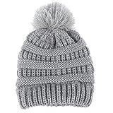 Gorras para bebé, Dragon868 Sombrero de lana de punto invierno caliente recién nacido dobladillo (gris)
