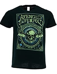 Avenged Sevenfold Ornate Death Bat Black T-shirt Official Licensed Music
