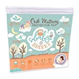 Waterproof Crib Mattress Sheet Pad - Organic and Breathable Bamboo Crib Pad