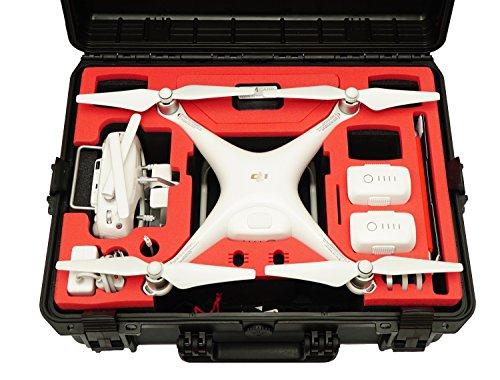 Profi Transportkoffer, Koffer für DJI Phantom 4 Pro / Pro Plus Kopter mit 6 Akkus + Zubehör, wasserdichter Outdoor Case, Hardcase - 8