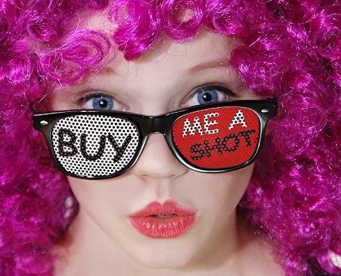 Preisvergleich Produktbild Brille Buy me a Shot - Partybrille Party Disco Club Mallorca Sonnenbrille