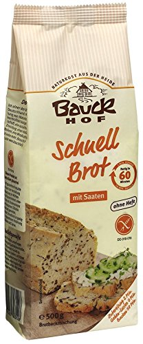 Image of Bauckhof Schnellbrot-Backmischung, glutenfrei (500 g) - Bio