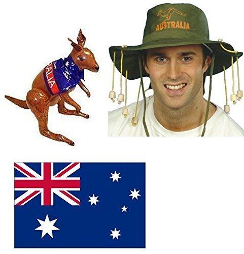 Australischer Flagge und Kork, Hut, Kostüm-Aufblasbares Känguru (Kork Hut Kostüm)