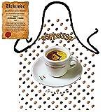 Italienische Kochschürze für Espresso Liebhaber : Espresso !! mit GRATIS Urkunde !!