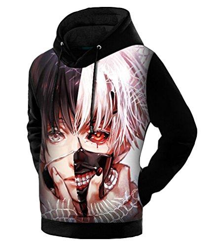 Brinny Anime Hoodie Pullover Kapuze Kapuzenpullover Pulli Kostuem Sweaters Hoodie Sweatshirt Kapuzenpulli Sweatshirt Fitness Sport Gym (Anime Kostüme Männer Für)