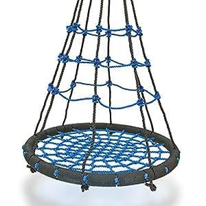 Dxp altalena per bambini rotonda a nido altalena da giardino e esterno blu edy08 - Altalena da giardino amazon ...