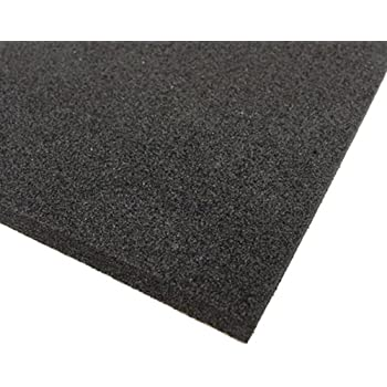 black neoprene plain sponge foam rubber sheet 300mm x 300mm x 10mm