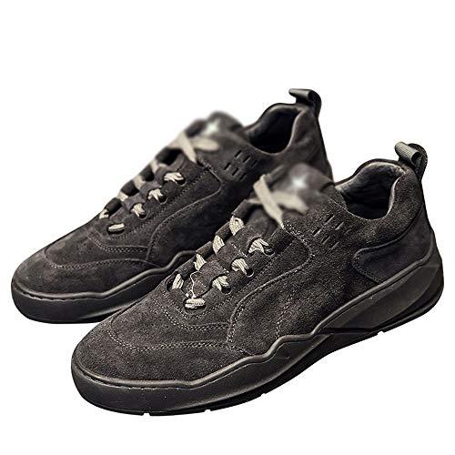 Chaussures HAIZJEN Homme, de Cricket à Lacets, décontractées pour Hommes (Couleur : Noir, Taille : EU39/UK6.5/CN40)