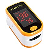 Carejoy oximetro de dedo pulsioxímetro portátil y medida saturación oxígeno SpO2 PR monitor con pantalla LED.