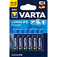 VARTA Longlife Power  4+2 AAA Alkalin İnce Kalem Pil