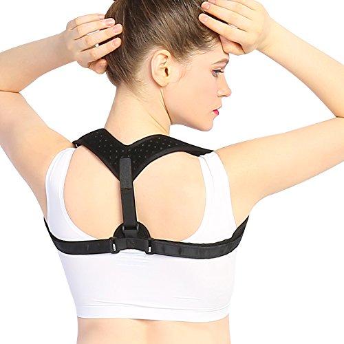 Doact Geradehalter zur Haltungskorrektur Schulter Rücken Haltungsbandage Einstellbare - für Männer und Frauen (T-shirt Haltung)