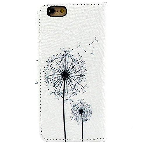 """EUDTH iPhone 6s Coque Peinture Style Housse Flip Cover Portefeuille Etui en Cuir de Protection Case vec B¨¦quille pour iPhone 6 6S 4.7"""" -YH07 YH21"""