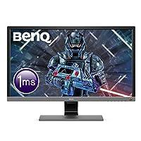 BenQ EL2870U 28 inch 4K HDR Gaming Monitor, 1ms Response Time, UHD, TN, Free-Sync, Eye-Care, Anti-glare, Brightness Intelligence Plus, HDMI, DP, Built-in Speakers