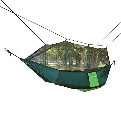 Docooler Moskitonetz Doppel Hängematte Extrastarkes Nylon Langlebig Kompakte Leichte Outdoor Camping Hängematte