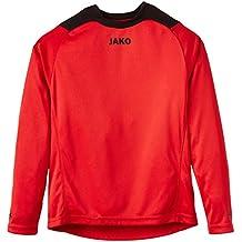 JAKO Torwarttrikot Copa - Camiseta de portero de fútbol para niño, color rojo / negro, talla 6 años (116 cm)