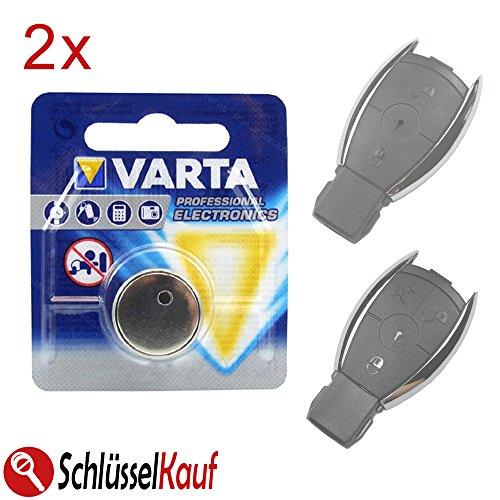 2X VARTA Autoschlüssel Batterie Blister Knopfzelle passend für Mercedes Benz W176 W203 W204 W211 W245 (W204 Mercedes)