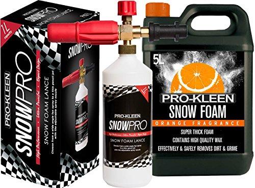 Pro Kleen Snow Schaumstoff Lance für Verwendung mit Kärcher K Serie Hochdruckreiniger inkl. 5Liter Orange Snow Schaumstoff