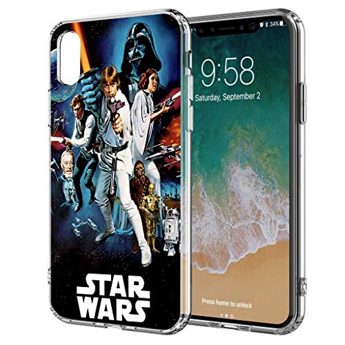 Handyhülle Jedi Star Wars kompatibel für iPhone X/Xs All Together Star Wars Schutz Hülle Case Bumper transparent M7