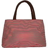 ZXKEE Rayas Diseño bolsos de las mujeres Bento Picnic Bolsas Bolsa porta alimentos (rojo)