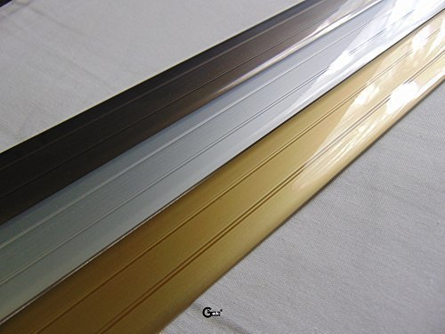 Gedotec® Übergangsprofil selbstklebend Übergangsschiene Alu flach | Breite 37 mm | Bronze eloxiert | Abdeckleiste 200 cm | Markenqualität für Ihren Wohnbereich
