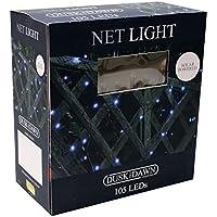 Garden - 105 Solar Bright White LED Net Lights by Kingfisher