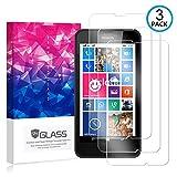 Ycloud [3 Pack] Pellicola Protezione di Schermo per Nokia Lumia 630,[9H Dureza/0.3mm],[Alta Definicion] Vetro temperato Pellicola Protettiva per Nokia Lumia 630